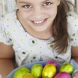 Girl with Easter eggs — Stock Photo #61032847