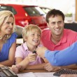 Family buying car — Stock Photo #61032885