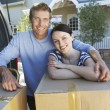 Couple moving house — Stock Photo #61033401