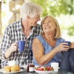 Senior couple eating — Stock Photo #61033415