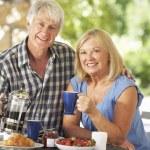 Senior couple eating — Stock Photo #61033669