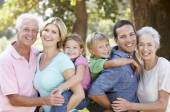 Three generation family — Stock Photo