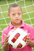 Boy with Downs Syndrome — Stock Photo