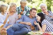 Family with picnic — Stock Photo