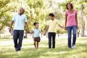 Family walking — Stock Photo
