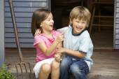 Young brother and sister — Stock Photo