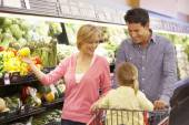 Family shopping — Stock Photo