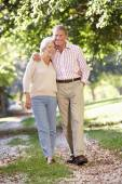 Senior couple walking — Stock Photo