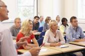 Tutor teaching class — Stock Photo