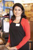 Supermarket  worker — Foto de Stock