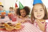 Children  at birthday party — Stock Photo