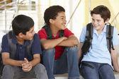 Boys in school — Stock Photo