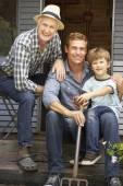отец, сын и внук — Стоковое фото