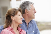 Senior couple outdoors — Stock Photo
