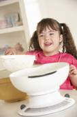 Girl with Downs Syndrome — Stock Photo