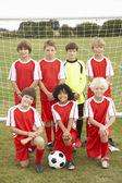 Junior football team — Stock Photo