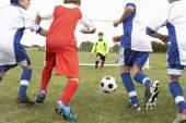 Teams playing football — Stock Photo