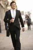 Businessman go to work — Stock Photo