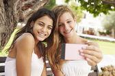 Teenage Girls Taking Selfie — Stock Photo