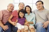 Multi Generation Family  On Sofa — Stock Photo