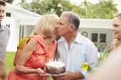 Multi Generation Family Celebrating Birthday — Stock Photo