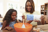 Mother And Daughter Baking — Stock Photo