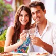 Young Couple Eating Meal — Stock Photo #68248929