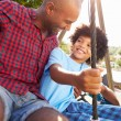Father And Son On Swing — Stock Photo #68249109