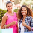 Female Friends With Shopping Bags — Stock Photo #68249447