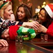 Man Passed Out On Bar During Christmas — Stock Photo #68249529
