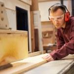 Carpenter Using Circular Saw — Stock Photo #68249811