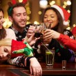 Woman Passed Out On Bar During Christmas — Stock Photo #68251137