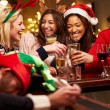 Man Passed Out On Bar During Christmas — Stock Photo #68251139