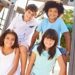 Children On Playground Climbing Frame — Stock Photo #68251241