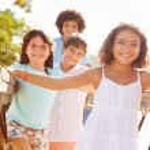 Children On Playground Climbing Frame — Stock Photo #68251875
