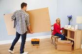 Couple Preparing To Assemble Flat — Stock Photo