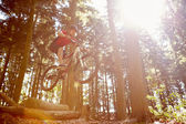Man Riding Mountain Bike — Stock Photo