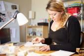 Jeweler Preparing Orders — Stock Photo