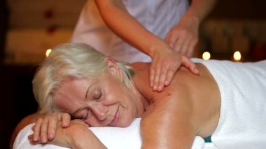 Senior Woman Having Massage — Video Stock