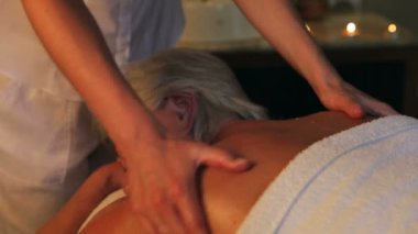 Senior Woman Having Massage — Vídeo de Stock