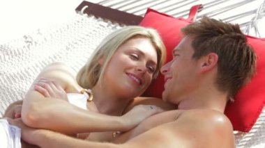 Romantic Couple Relaxing — Stock Video