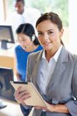 Female Manager With Digital Tablet — Stock Photo