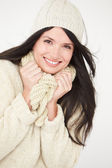 Woman Wearing Warm Winter Clothes — Stock Photo