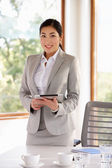 Businesswoman  With Digital Tablet — Stock Photo