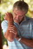 Mature Man with Painful Elbow — Foto de Stock