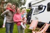 Family Camping In Camper Van — Stock Photo