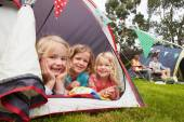 Family Enjoying Camping Holiday — Stock Photo
