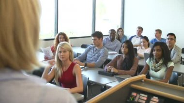 University Tutor Teaching Class — Stock Video