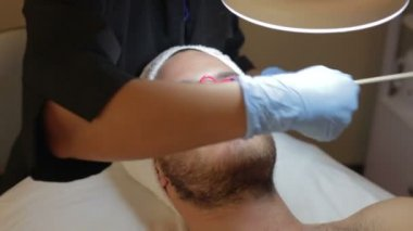 Man Cosmetic Treatment At Spa — Stock Video