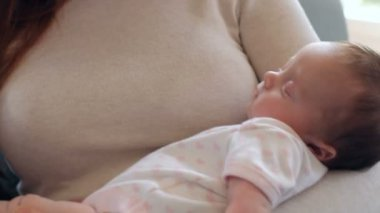 Mother With Baby Suffering From Post Natal Depression — Stock Video